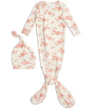 aden+anais Snuggle Knit Gown and Hat Set Rosettes 0-3 Months