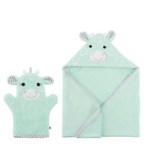 ZOOCCHINI Jamie The Giraffe Bath Mitt + Towel Bundle