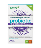 Genuine Health Advanced Gut Health Probiotic Defense 50 billion CFU