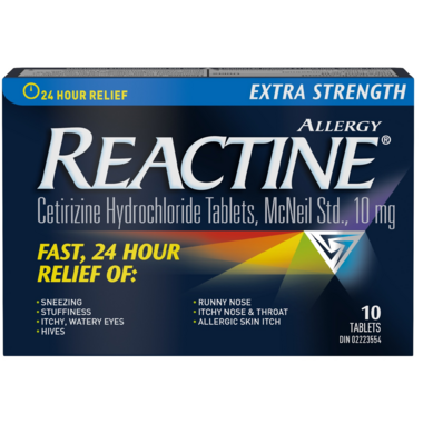 Reactine Extra Strength 10 Tablets