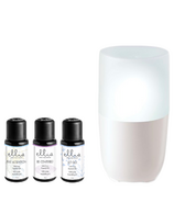 Ellia Soothe Ultrasonic Aroma Diffuser and 3 Pack Oil Blend Bundle