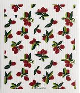 Ten & Co. Swedish Sponge Cloth Vintage Fruits Cranberry