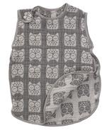 Living Textiles Muslin Reversible Sleeping Bag Grey Owl