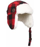 Kombi The Hip Aviator Hat Junior Red Buffalo Plaid