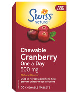 Swiss Natural Chewable Cranberry One a Day 500 mg