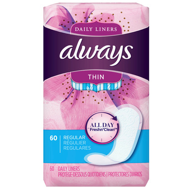 Always Thin Daily Liners Regular