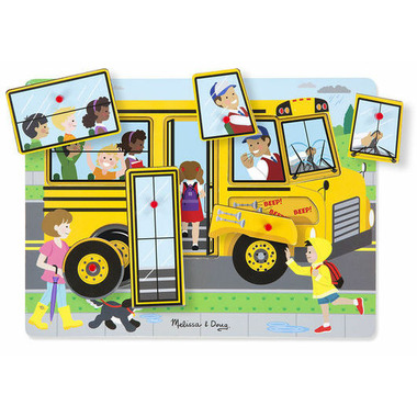 Melissa & Doug The Wheels on the Bus Sound Puzzle