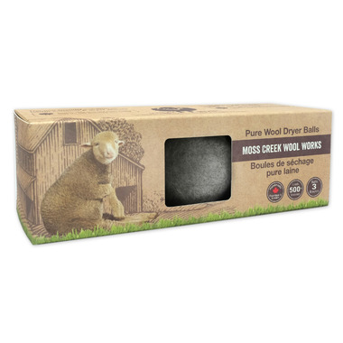 Moss Creek Wool Works Wool Dryer Balls in Grey