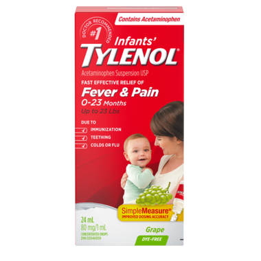 Tylenol Infants\' Fever & Pain Suspension Drops Grape