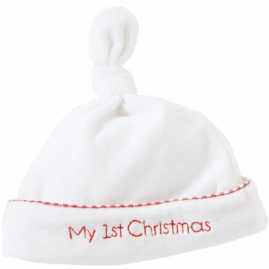 Mud Pie My First Christmas Newborn Cap
