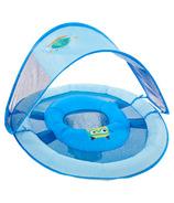 SwimWays Baby Spring Float Sun Canopy Blue Sea Monster