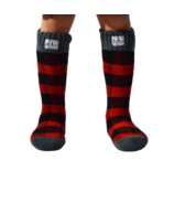 Pudus Kids Tall Brushed Sock Lumberjack Red