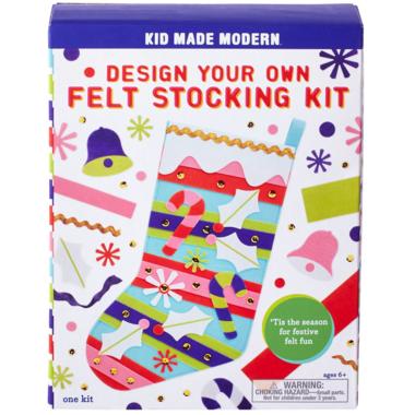 Kid Made Modern Design Your Own Felt Stocking Kit
