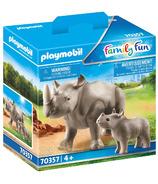 Playmobil Family Fun Rhino with Calf