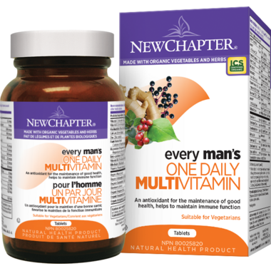 New Chapter Every Man\'s One Daily Vitamin & Mineral Supplement