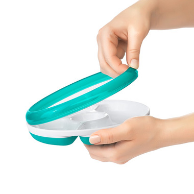 OXO Tot Divided Plate with Removable Ring Teal