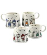 BIA Paws Cafe Cat Mugs