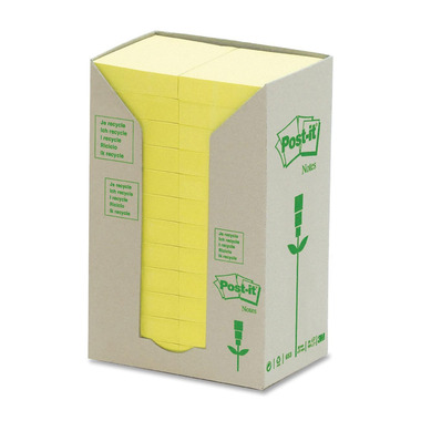 Post-it Recycled Note Pads Yellow