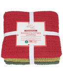 Now Designs Homespun Dishcloth Set Holiday