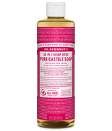 Dr. Bronner's Organic Pure Castile Liquid Soap Rose 16 Oz