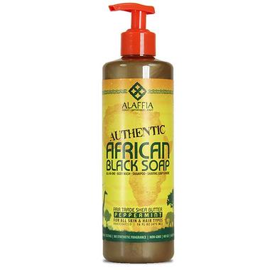 Alaffia Peppermint Authentic Black Soap