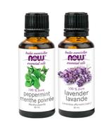 NOW Foods Lavender + Peppermint Essential Oils Bundle