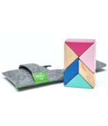 Tegu Pocket Pouch Prism Magnetic Wooden Block Set Blossom