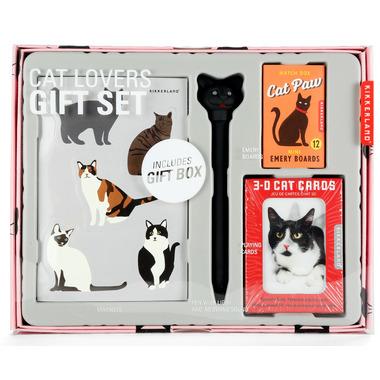 Kikkerland Cat Lovers Gift Set