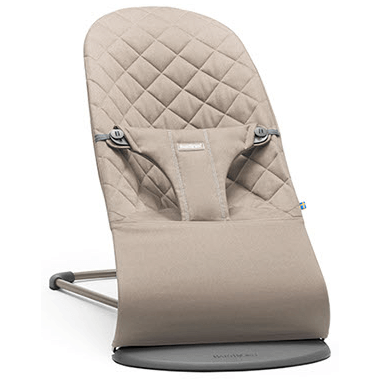 BabyBjorn Fabric Seat Bouncer Bliss Sand Grey Cotton