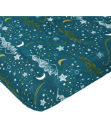 Nest Designs Fitted Crib Sheets Stars Blue