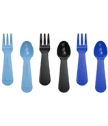 Lunch Punch Fork and Spoon Sets Blue & Black