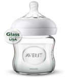 Philips AVENT Natural 4 oz Glass Feeding Bottle
