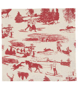 Now Designs Napkin Set Holiday Toile Print