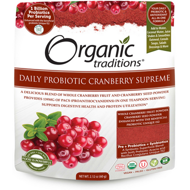 Organic Traditions Daily Probiotic Cranberry Supreme