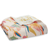 aden + anais Bamboo Silky Soft Dream Blanket Marine Gardens Floral Seaweed