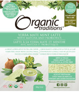 Organic Traditions Yerba Mate Mint Latte with Matcha & Probiotics