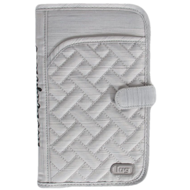 Lug Tandem Travel Wallet Brushed Silver