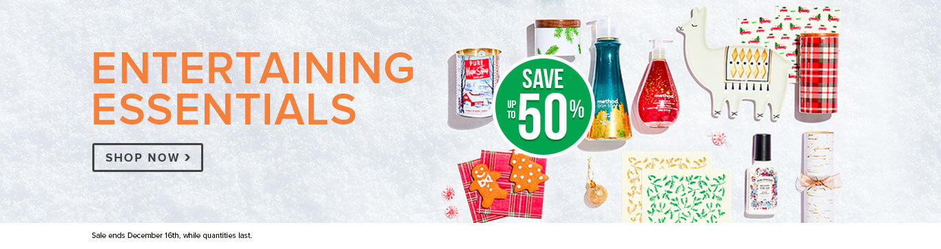 Save up to 20% on Entertaining Essentials