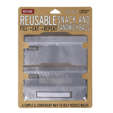Russbe Reusable Snack/Sandwich Bags Metallic Rhombus