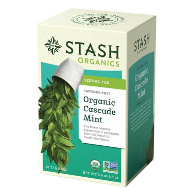 Stash Organic Cascade Mint Herbal Tea