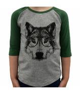 L&P Apparel 3/4 Sleeve Shirt Heather Grey & Green Wolf
