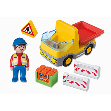 Playmobil 1.2.3 Construction Truck