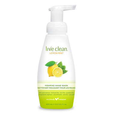 Live Clean Lemon Mint Foaming Hand Soap
