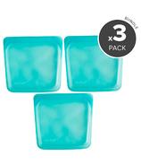 Stasher Reusable Storage Bag Trio Aqua Bundle
