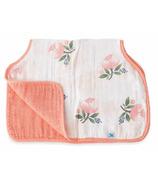 Little Unicorn Cotton Muslin Burp Cloth Watercolour Rose