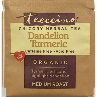 Teeccino Dandelion Turmeric Chicory Herbal Tea Sample