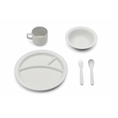 Red Rover 5 Piece Bamboo Dinner Set