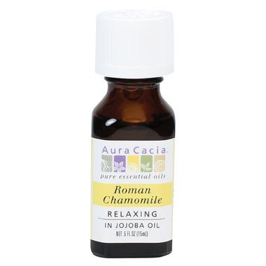 Aura Cacia Roman Chamomile Essential Oil Blended in Jojoba Oil