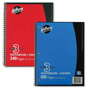 Hilroy Coil 3-Subject Notebook