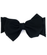 Baby Wisp Giant Lana Bow Headband Black